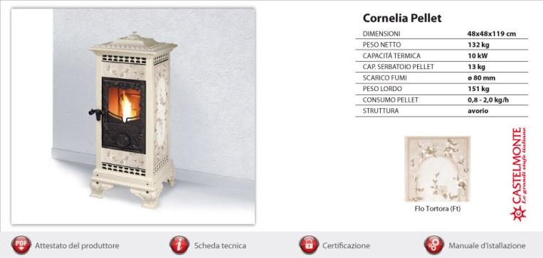 Stufa a pellet Castelmonte Cornelia