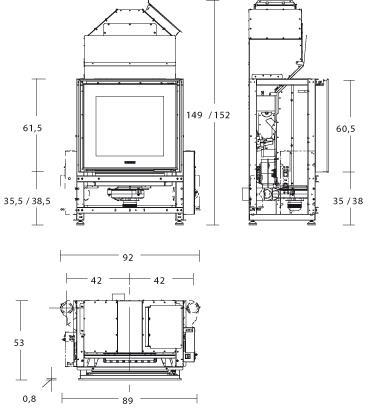 Scheda Focolare Piazzetta mod. MP 973