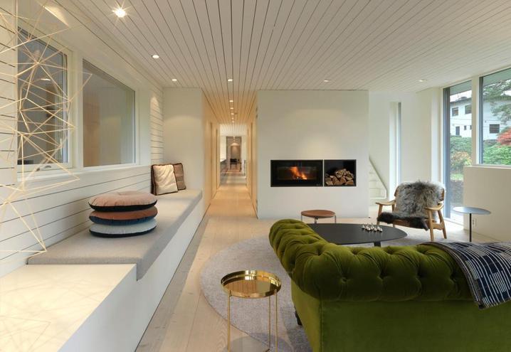 Norvegia una casa moderna immersa nel verde living oggetto for Oggetto casa