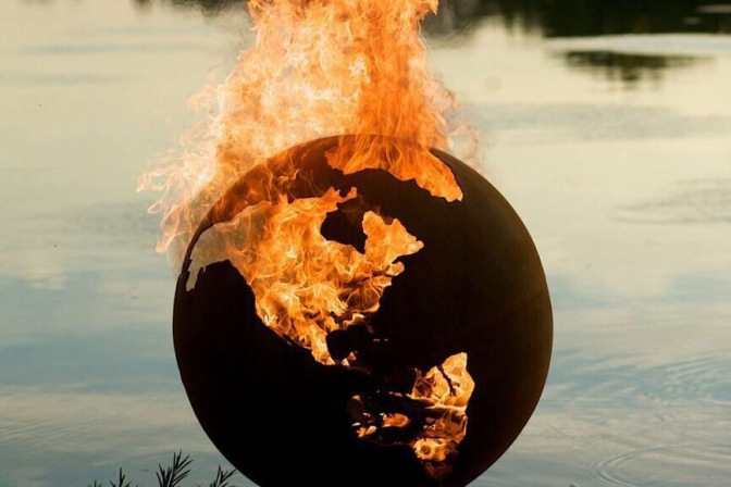 Third Rock Globe Fire Pit